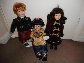 3 Porcelain Dolls