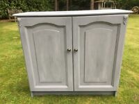 Hand painted Shoe cupboard