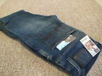 Nudie Grim Tim, New with tags, Unlit Indigo 32w/32l