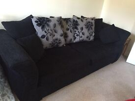Black and black/grey floral DFS sofa collection
