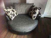 Dfs 3 seater sofa ad 2 large swivel cuddle chairs