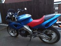 YAMAHA SZR660. (bang on the 35kW/47bhp limit for A2 Licence)