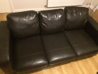 Faux-leather sofa 2-piece