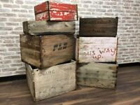 Various Storage Planter Trunk Crate Boxes (£10-20 each)