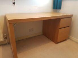 Ikea desk oak veneer