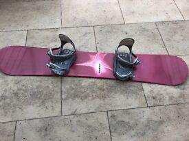 Ladies K2 Snowboard with bindings & bag