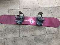 Ladies K2 Snowboard with bindings & bag