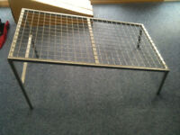 Diagonal Grey Metal Mesh Display Tables, Used for Pram Display