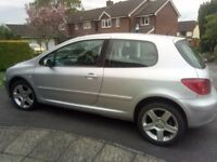 PEUGEOT 307, 11 MONTHS M.O.T., SERVICED MARCH 2017