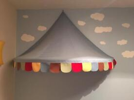 Ikea canopy and pirate ceiling shade