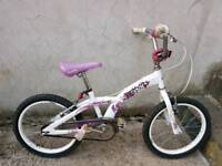 Magna xcool bmx bike white, purple and pink.