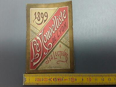 Antik Kleiner Kalender Kneipe 1899 die Nouvelliste von Lyon Jeannne D'Arc ()