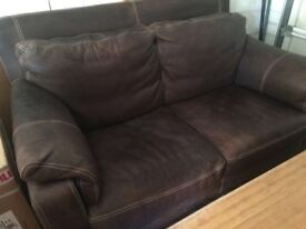 Chocolate Brown 2 Seater Sofa For Sale