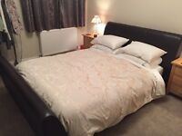Leather King Size Bed (no mattress)