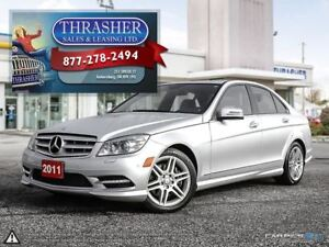 2011 Mercedes-Benz C-Class C300 4MATIC, LEATHER, SUNROOF, MORE!!