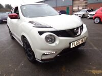NISSAN JUKE 1.6 DIG-T NISMO RS 5DR (white) 2015