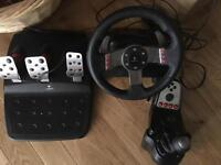 Logitech g27 pc & PS4 racing wheel
