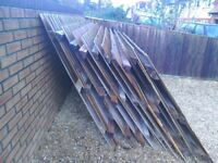 Feather edge fencing panels