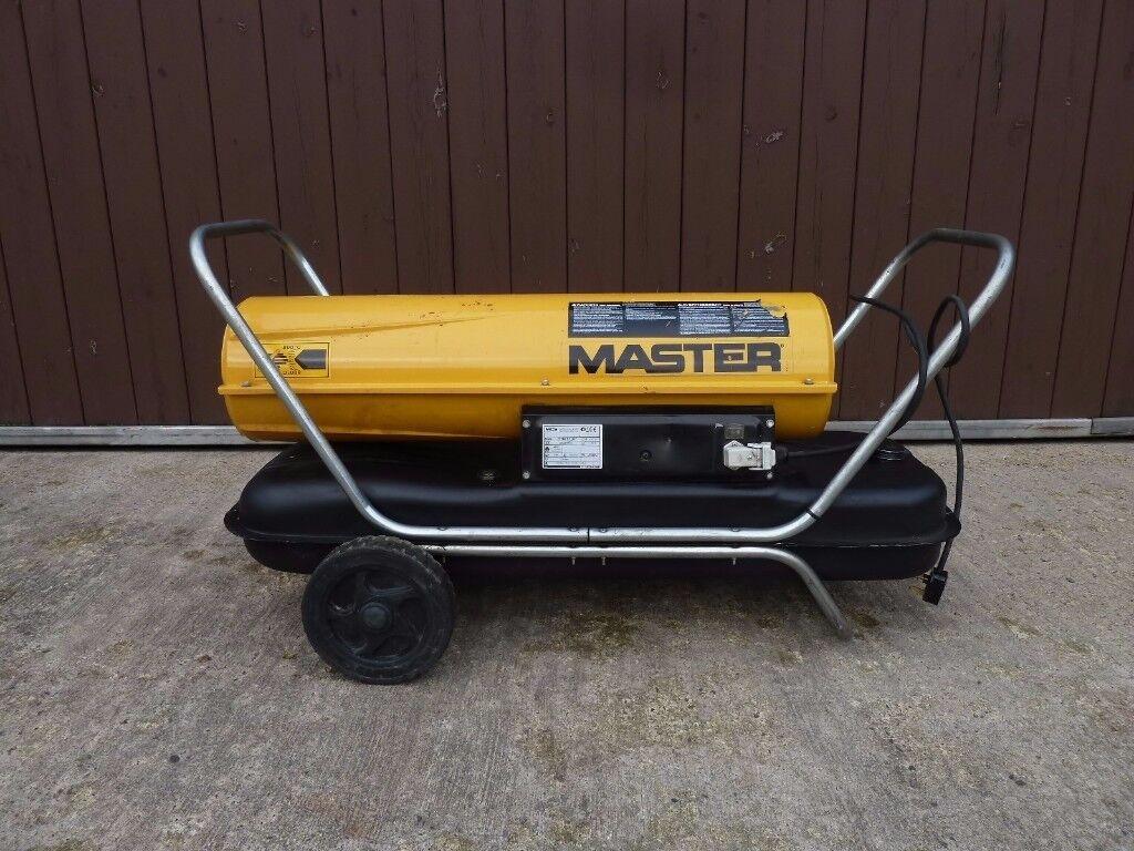 Master Portable Diesel / Kerosene Fired Space Heater Ideal for Garage / Workshop - 240v