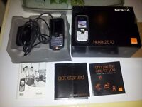 NOKIA 2610 MOBILE PHONE ON ORANGE IN BOX