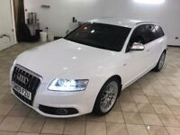 !!FACTORY WHITE!! 2009 AUDI A6 2.0 TDI SLINE AVANT / 1 PREVIOUS OWNER / FULL SERVICE HISTORY /