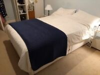 John Lewis double divan bed and double mattress for sale