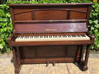 Squire Longson Upright Piano in Brown Gloss Finish Excellent Condition (Delivery Possible)