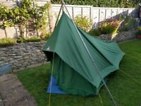 Rare vintage Blacks of Greenock Tinker canvas cotton tent