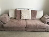 4 seater sofa, swivel chair and footstool