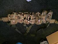 Military MTP webbing with Blackhawk belt
