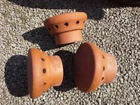 Terracotta chimney pot caps