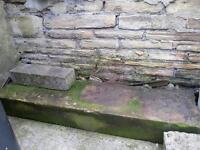 big piece of Yorkshire stone.