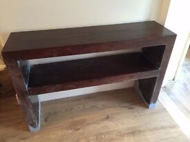 Solid MANGO WOOD Side Occasional Console Table - Restoration Project - £20