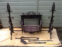 Large Antique Fireplace & Tools, 100+ Years Old.