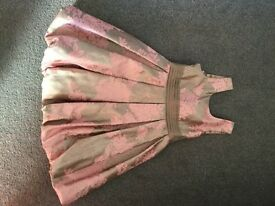 Monsoon Girls dress aged 6-7 pink & grey tulip dress worn once