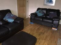 sofas armchair footstool - real leather