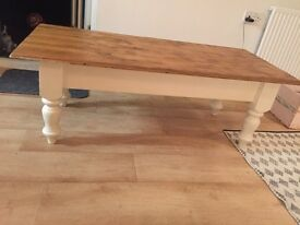 Solid Pine coffee table (heavy)