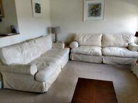 2 x Cream John Lewis 3 Seater sofas, £100 each