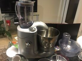 Kenwood Cuisine KM196 3-In-1 Mixer (Silver) - Barley Used - Collection - All Accessories