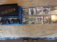 PLAYSTATION 3 - 2X CONTROLLER - 11 GAMES - REMOTE CONTROL - CABLE SET - BOX- MANUAL