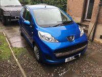 Peugeot 107 2012 1.0l blue