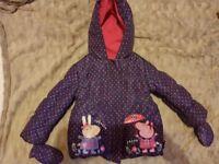 2-3 years Peppa Pig coat
