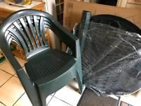 New 5 pce round table and chairs patio set