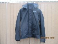 Hollister california parka style coat medium size navy blue