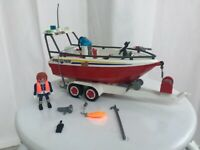 Playmobil 4823 rescue fire boat and trailer £10