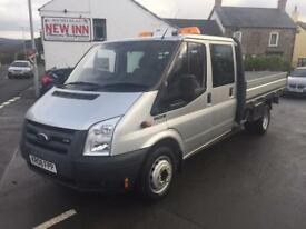 Ford Transit 115 T350EF D/C RWD Dropside LOW MILES 40000 - NO VAT. 1 OWNER!