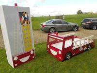 Real Cool Fire Engine Bed +Matching Wardrobe