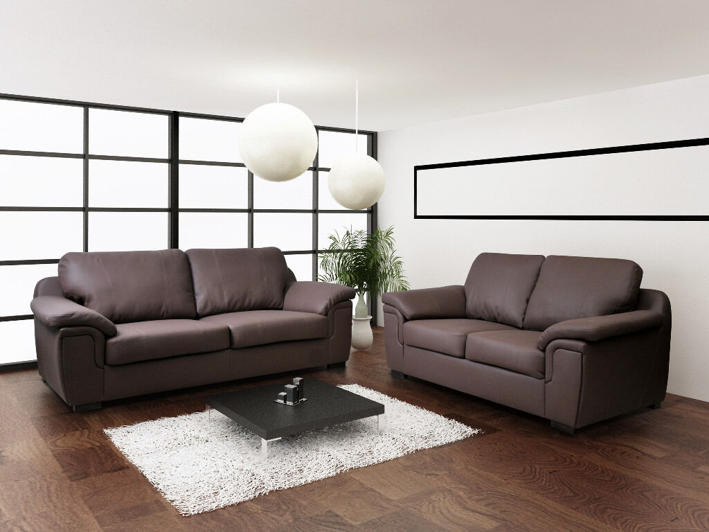 3 2 leather sofa deals - Image 1 Of 8
