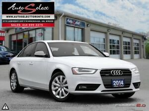 2014 Audi A4 Quattro AWD ONLY 69K! **CLEAN CARPROOF** LED LIG...