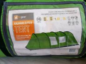 KALAHARI ELITE 8 TUNNEL TENT BRAND NEW & FOOTPRINT HI GEAR CASH ON COLLECTION ONLY
